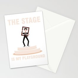 Stage Theatre Theater Actor Actress Acting Gift Stationery Cards