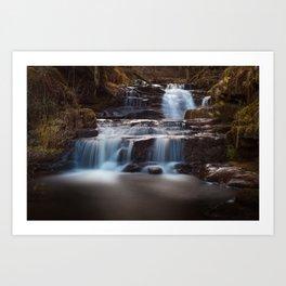 Lower Blaen y Glyn Falls Art Print