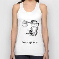 imagine Tank Tops featuring Imagine by Paul Kimble
