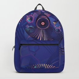 Stylized sound speaker with geometric elements Backpack