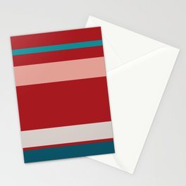 An incomparable collection of Blood (Animal), Pastel Pink, Silver, Dark Cyan and Philippine Indigo stripes. Stationery Cards