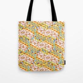 Pink Bonbon Hexagons Tote Bag