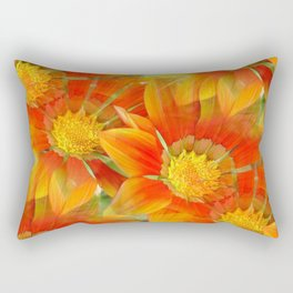 Seamless Vibrant Yellow Gazania Flower Rectangular Pillow