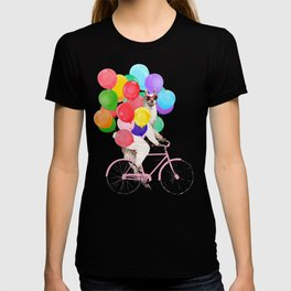 Fashion Llama Riding with Colourful Balloons T-shirt