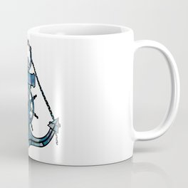 Anchor and Steering Helm [Multicolored 2] Coffee Mug