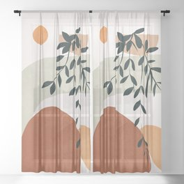 Soft Shapes I Sheer Curtain
