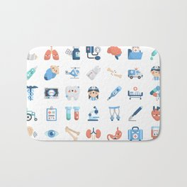 CUTE MEDICINE / SCIENCE / DOCTOR PATTERN Bath Mat