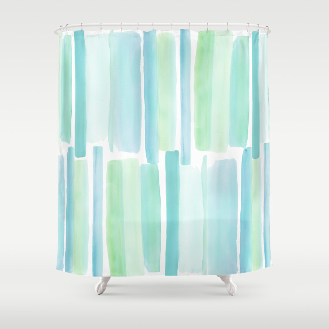 Seaglass Shower Curtains | Society6