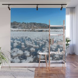 Watercolor Ice 19, Icy Lake Tufts Wall Mural