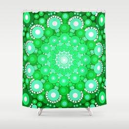 Emerald Mandala Shower Curtain
