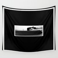 record Wall Tapestries featuring Record Player by Derek Delacroix