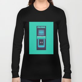 Polybius Arcade Game Machine Cabinet - Front Green Long Sleeve T-shirt