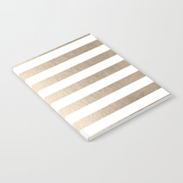 Simply Striped in White Gold Sands Notebook