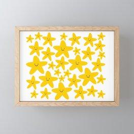 Kawaii Starfish Party Framed Mini Art Print