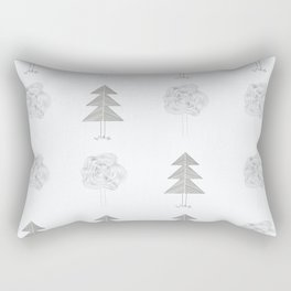 two kinds of tree Rectangular Pillow