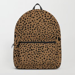 Little wild cheetah spots animal print neutral home trend rust copper black  Backpack