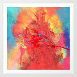 Abstract Volcanic Eruption - 729.2 Art Print