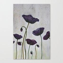 Purple Poppies Canvas Print