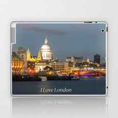 Late Dusk On Blackfriers Bridge Laptop & iPad Skin