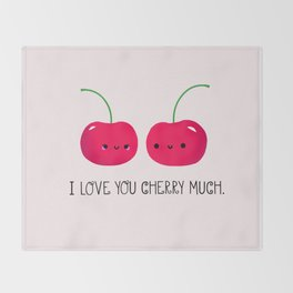 I Love You Cherry Much Throw Blanket