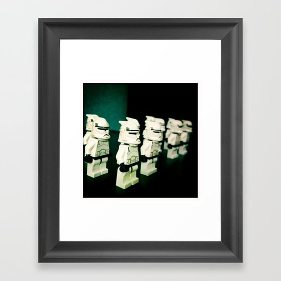 Lined Up Framed Art Print