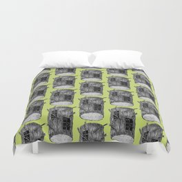 Mysterious Forest Creatures In Tree Log Duvet Cover