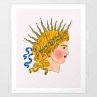 apollo Art Prints featuring Apollo by Milan Kovacevic