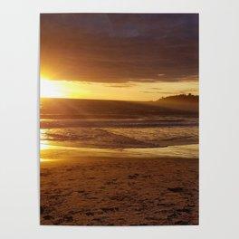 Golden Carmel Sunset Poster
