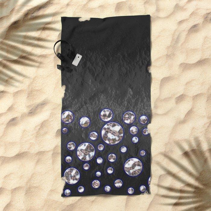 Asteroid Belt of Silver Moons Beach Towel