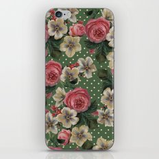 Vintage Rose Pattern iPhone & iPod Skin