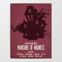 Mansions of Madness - Minimalist Board Games 04 Poster