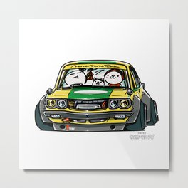 Crazy Car Art 0150 Metal Print