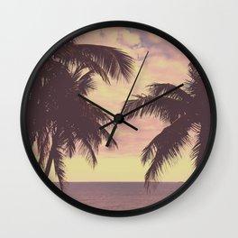 Summer Afternoon Palmtrees Wall Clock