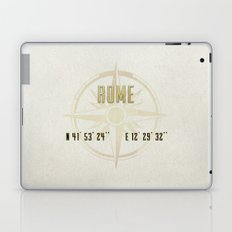 Rome - Vintage Map and Location Laptop & iPad Skin