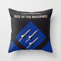No802-3 My The Terminator 3 minimal movie poster Throw Pillow