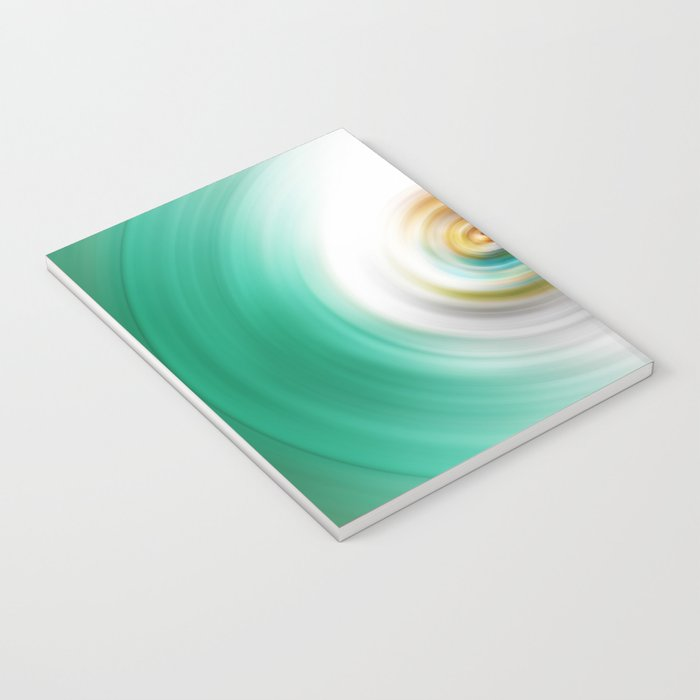 Green, White and Red Swirl Notebook