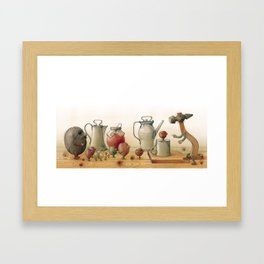 Nuts on the table Framed Art Print