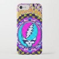 grateful dead iPhone & iPod Cases featuring Grateful Dead #11 Optical Illusion Psychedelic Design by CAP Artwork & Design