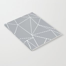Abstract Dotted Lines Grey Notebook