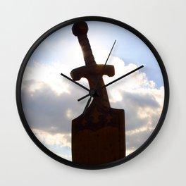 Sword and Shield Wall Clock