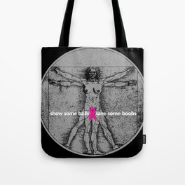 vitruvian mammary Tote Bag