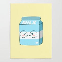Kawaii Milk Poster