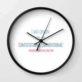 CONSTITUTIONAL CONVENTIONAL Wall Clock