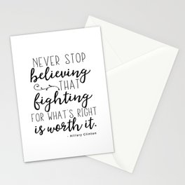 Hillary Clinton quote Stationery Cards