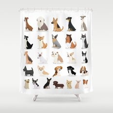 Dog Overload - Cute Dog Series Shower Curtain