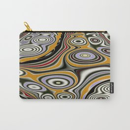Fractal Design in Gold, Purple, Red, Gray Carry-All Pouch