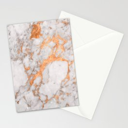Copper Marble Stationery Cards