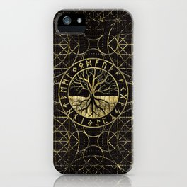 Tree of life  -Yggdrasil and  Runes iPhone Case