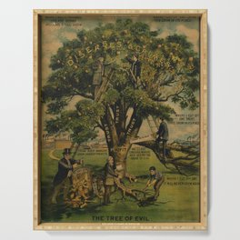 diseases & crimes   the tree of evil. 1912  poster Serving Tray