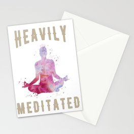 Heavily meditated yoga design Stationery Cards